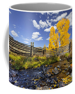 Fall At The Ranch Coffee Mug by Jack Bell