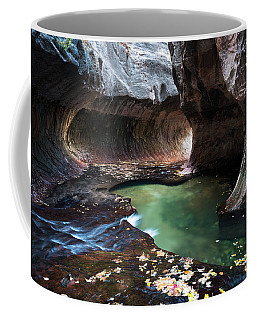 Coffee Mug featuring the photograph Fall At The Subway by James Udall