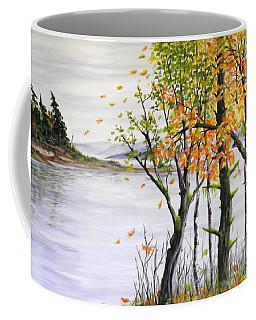 Fall Blows In Coffee Mug