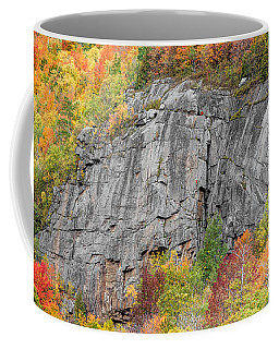 Coffee Mug featuring the photograph Fall Climbing by Brad Wenskoski