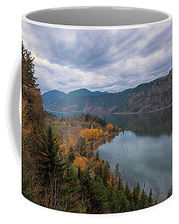 Fall Color At Ruthton Point In Hood River Oregon Coffee Mug