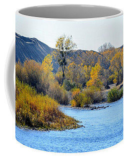 Coffee Mug featuring the photograph Fall Color On The Yuba  by AJ Schibig