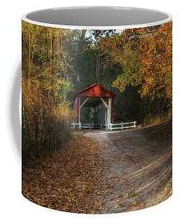 Coffee Mug featuring the photograph Fall Covered Bridge by Dale Kincaid