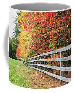 Fall Fence Coffee Mug