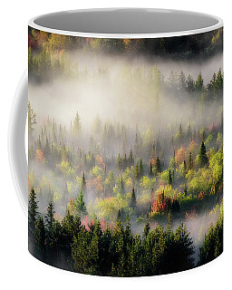 Coffee Mug featuring the photograph Fall Fog by Brad Wenskoski