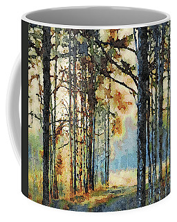 Fall Forest Watercolor Coffee Mug