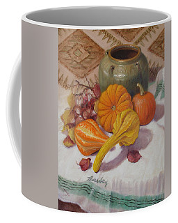 Coffee Mug featuring the painting Fall Harvest #5 by Donelli  DiMaria