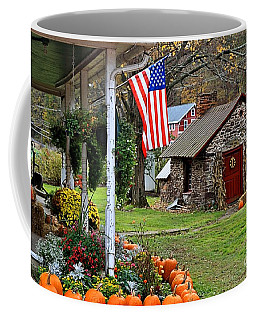 Coffee Mug featuring the photograph Fall Harvest - Rural America by DJ Florek