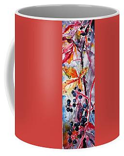 Coffee Mug featuring the painting Fall II by Kovacs Anna Brigitta