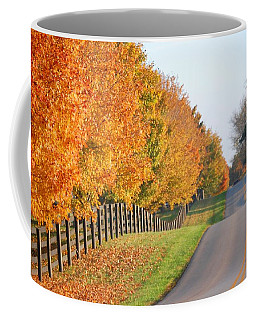 Coffee Mug featuring the photograph Fall In Horse Farm Country by Sumoflam Photography