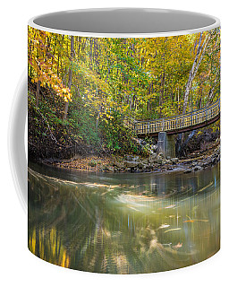 Coffee Mug featuring the photograph Fall In Motion by Steven Santamour
