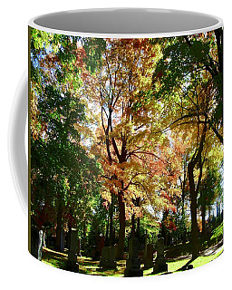 Coffee Mug featuring the photograph Fall In The Cemetery by Stephanie Moore