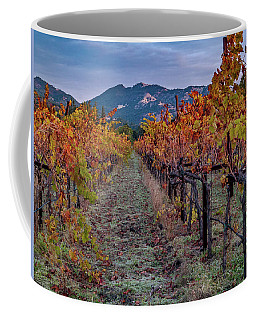 Coffee Mug featuring the pastel Fall In Wine Country by Bill Gallagher