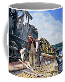 Fall Lake Train Coffee Mug