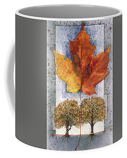 Coffee Mug featuring the painting Fall Leaf by John Dyess