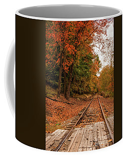 Fall Leaves And Train Track Wv Coffee Mug by Kathleen K Parker