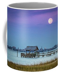 Fall Moon And King Tide - Charleston Sc Coffee Mug