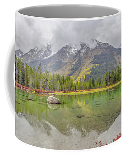 Coffee Mug featuring the photograph Fall Morning Along String Lake by Scott McGuire