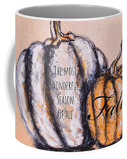 Coffee Mug featuring the painting Fall Most Wonderful Season Of All by Monique Faella