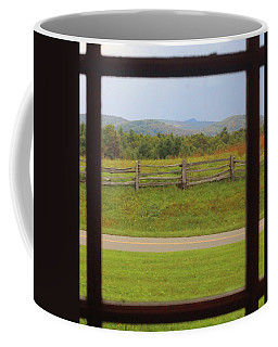Fall Mountains Through The Window  Coffee Mug