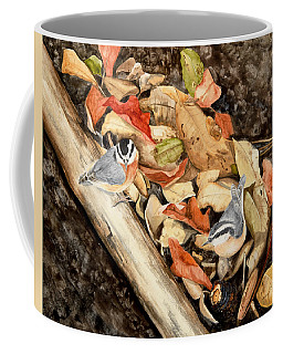 Fall Nuthatch Pair Coffee Mug