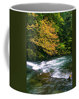 Fall On The Clackamas River, Or Coffee Mug
