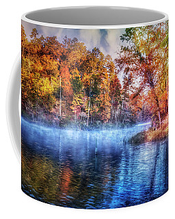 Coffee Mug featuring the photograph Fall On The Lake by Debra and Dave Vanderlaan