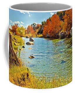 Fall On The Medina River Coffee Mug