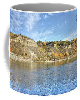 Fall On The River Coffee Mug