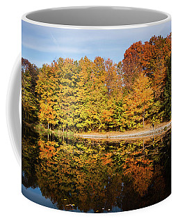 Fall Ontario Forest Reflecting In Pond  Coffee Mug