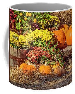 Coffee Mug featuring the photograph Fall Pumpkins by Carolyn Marshall