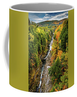 Coffee Mug featuring the photograph Fall Quechee Gorge, Vt by Michael Hubley