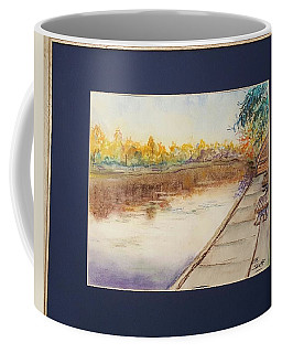Fall Reflections At Weldon Springs Near Clinton, Il Coffee Mug