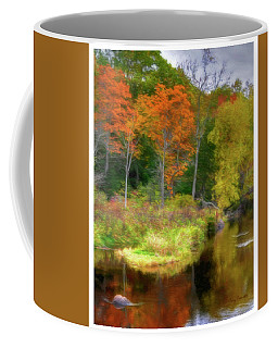 Coffee Mug featuring the photograph Fall Reflections On County T by Trey Foerster