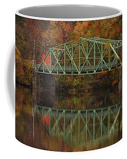 Fall Rocks Village Bridge Coffee Mug
