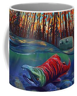 Fall Salmon Fishing Coffee Mug