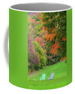 Coffee Mug featuring the photograph Fall Seating by Alan L Graham