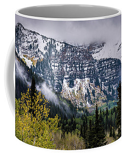 Coffee Mug featuring the photograph Fall Storm In Wasatch Mountains - Utah by Gary Whitton