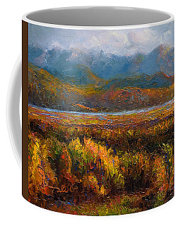 Coffee Mug featuring the painting Fall by Talya Johnson
