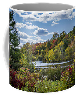 Fall Time On The Lake Coffee Mug