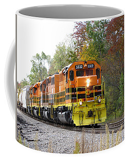 Coffee Mug featuring the photograph Fall Train In Color by Rick Morgan
