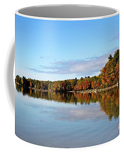 Fall Tree Reflections Lake Sabago Maine Coffee Mug