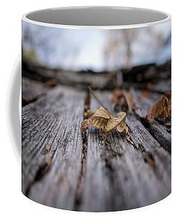 Fallen Leaf On A Rustic Shed Coffee Mug