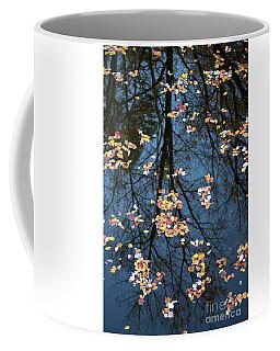 Fallen Leaves In Autumn Lake Coffee Mug
