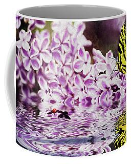 Fallen Lilacs Coffee Mug by Diane Schuster