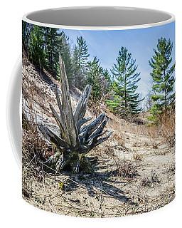 Fallen Tree At Warren Dunes Coffee Mug