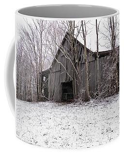 Falling Barn Coffee Mug