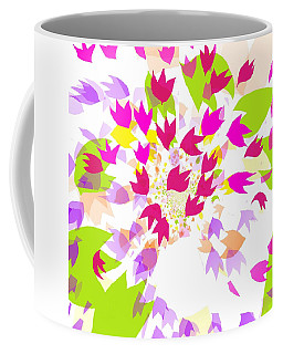 Coffee Mug featuring the digital art Falling Leaves by Barbara Moignard