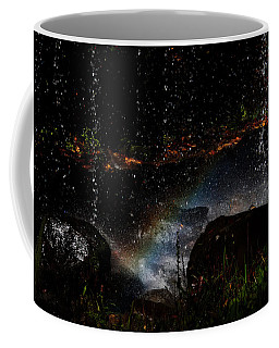 Coffee Mug featuring the photograph Falling Water Abstract by Chris Flees