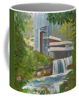 Coffee Mug featuring the painting Falling Water by Jamie Frier